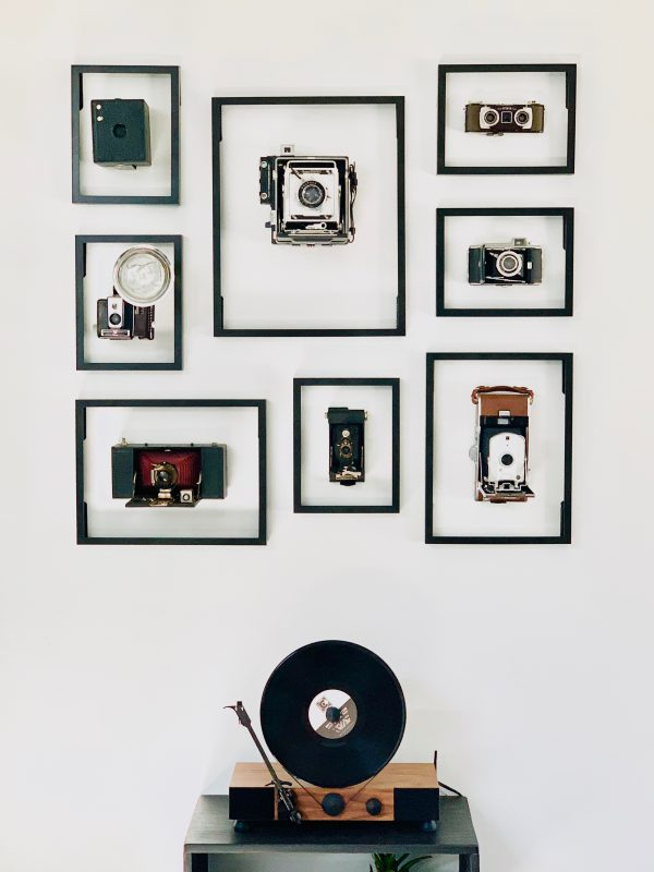 Vintage Camera Wall Display